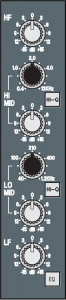 Figure 7.25 EQ section of an input channel strip