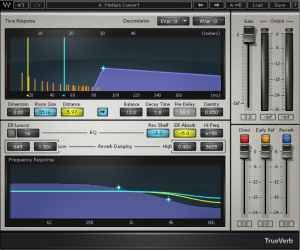 Figure 7.7 The TrueVerb reverberation plug-in from Waves