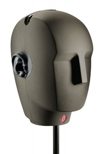 Figure 8.12 A binaural recording dummy head with built-in microphones