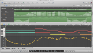 Figure 8.17 Expression data captured inside a MIDI sequencer region